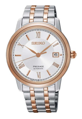 Seiko silver Seiko Presage Rose Gold and Silver Stainless Steel Watch CA8D3AC3813FC2GS_1