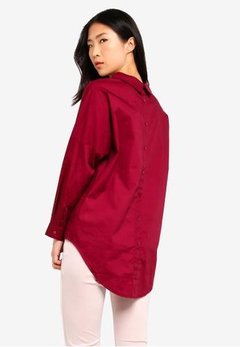 ZALORA BASICS red Basic Oversized Shirt B4B50AA2DD6414GS_1