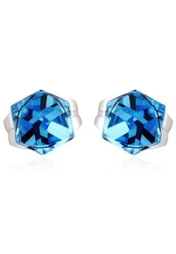 OUXI blue OUXI Earrings 20127 (Aquamarine) OU821AC26TXLMY_1