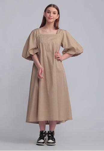 Veyl brown Hyuna Dress Brown 89A20AA754E51DGS_1