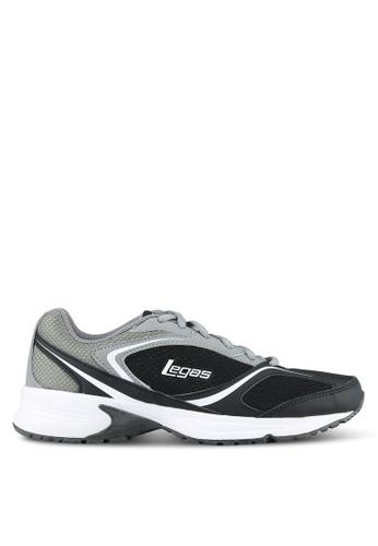 Legas black and grey Neptune LA Men's Shoes LE684SH0S2MSMY_1