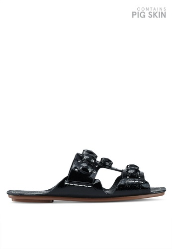 9ce40f227d2f TOPSHOP black Gem Sandals 960BASH77CC2E0GS 1
