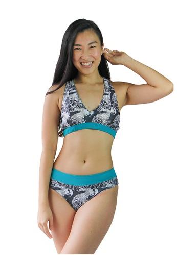 August Society multi Sanur Mid-Rise Bikini Bottoms - Lagoon/Art Deco 66583US6B6444FGS_1