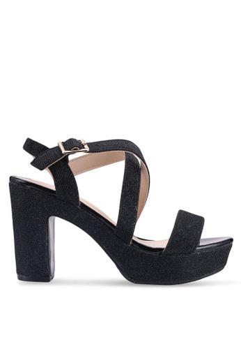 Noveni 黑色 閃亮高跟鞋 98531SH361C037GS_1