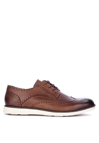 Alberto brown Formal Wingtip Oxford Shoes 75902SH116CA6BGS_1