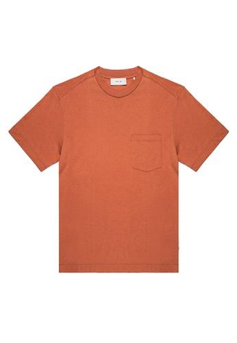 CERRUTI 1881 orange CHEST POCKET T-SHIRT 70DF9AA19B6E48GS_1