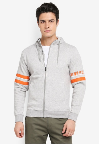 Calvin Klein grey Hood Jacket with Sleeve Stripe - Calvin Klein Performance 01986AAA9D84D3GS_1