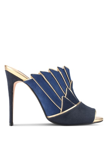 ZALORA navy Layered Wing Detail Heels B6136SHDEA0CECGS_1