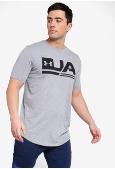 c9f99d37f Under Armour white UA Sportstyle Short Sleeve Tee F91D1AAF97919AGS_1