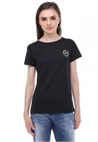 RA Jeans Ladies Small Logo Tee Round Black