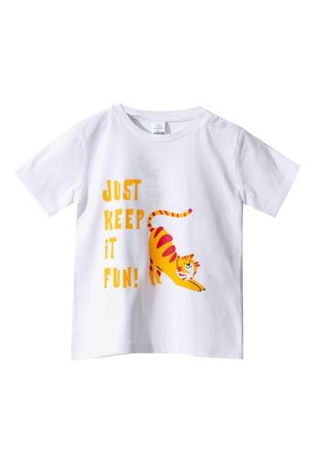 LC Waikiki white Baby Boy?s Printed Cotton T-Shirt CD8D1KA0C2256AGS_1