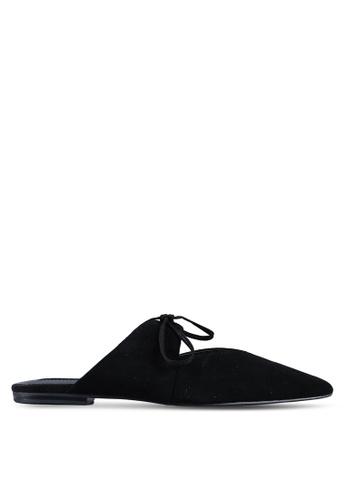 f045e578b9459 Buy Mango Bow Leather Shoes Online on ZALORA Singapore