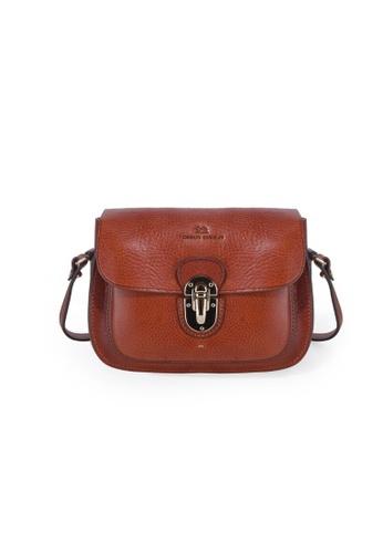 Charles Berkeley brown Charles Berkeley Italian Craftsmanship Sienna Vintage Style Sling Bag -07816 EFE77ACE264223GS_1