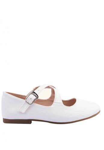 Meet My Feet white Meet My Feet Daisy (Kids Ballet Flats) D5B1DKS10BA5CBGS_1