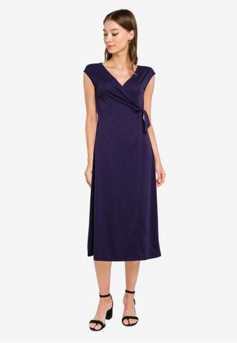 ZALORA WORK navy Sleeveless Wrap Dress C21A5AA046756FGS_1