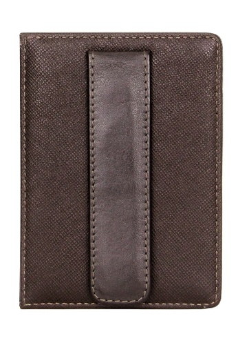 Picard brown Picard Saffiano Slim Card Holder with Money Clip 628E9AC64B9A22GS_1