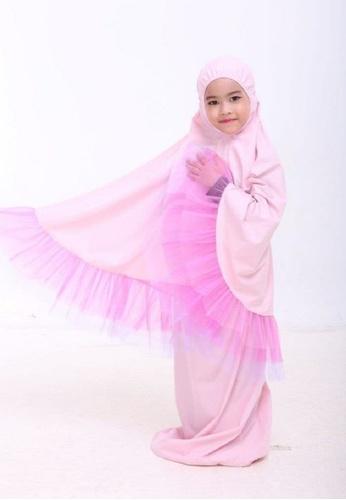 AN-NAJWA pink Annajwa Telekung Kids Tutu Unicorn Cotton 64B54KCEFDFE0CGS_1