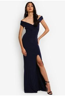 3d0cb19d165 Bardot Wrap Slit Maxi Dress B505AAA4FC929CGS 1