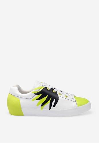 ASH 多色 Nicky Flame - 米灰色印花運動鞋 F96C1SH42A0ECCGS_1