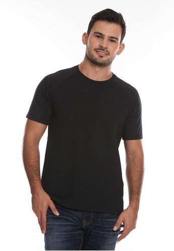 Manzone black DRACO-BLACK T-shirt 5AE46AA1B0FB1CGS_1