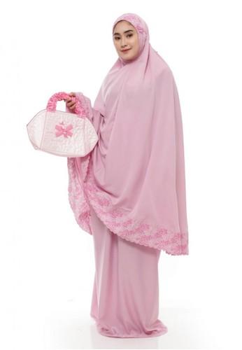 First Hijab pink Mukena Mazaya Premium  in Pink 14BB3AAAB307ECGS_1