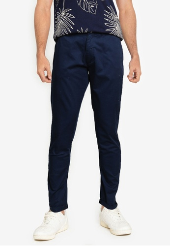 Ben Sherman navy Signature Skinny Stretch Chino Pants AAD54AAC3A8ACEGS_1