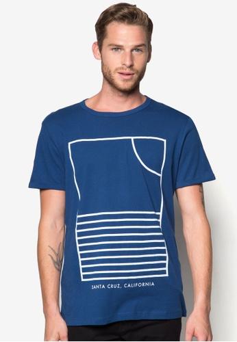 MANGO Man blue and navy Printed Cotton T-Shirt MA449AA27ZOYMY_1