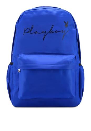 Playboy blue Playboy Backpack CF862AC14D3DE6GS_1