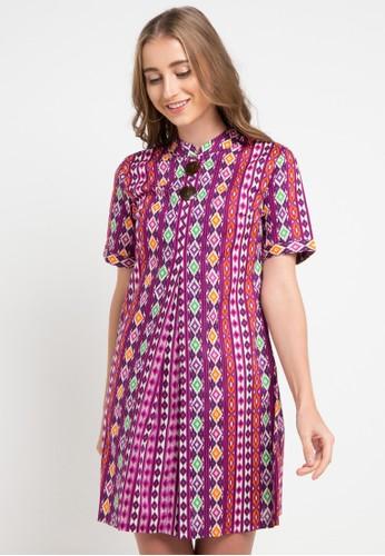 ARJUNA WEDA purple Sackdress Batik Motif Tenun Bali 4690CAA1CA7D30GS_1