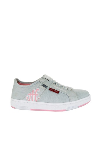 Royal Elastics grey and pink Icon Washed Canvas Sneakers RO796SH2UYLFHK_1