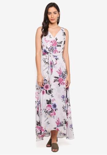 Dorothy Perkins grey Grey Floral Maxi Dress CF956AA4AFCA59GS_1