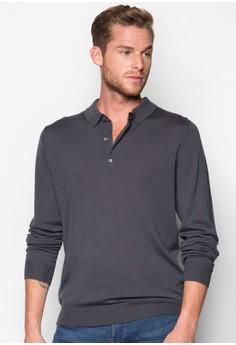 Long Sleeves Wool Polo Shirt