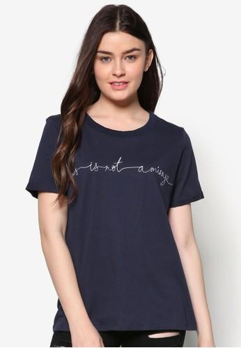 文字訊息男友風T 恤, 服飾, zalora 心得上衣
