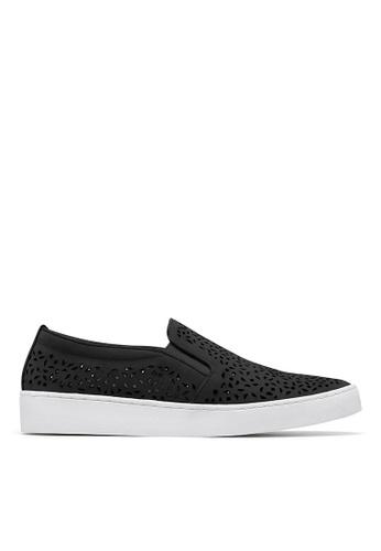 Vionic black Midi Perf Slip-On Sneaker D1E16SH52B7A73GS_1