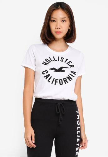 288b9569e9ea Buy Hollister Short Sleeve Circle Top Online on ZALORA Singapore