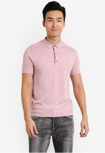 Burton Menswear London 粉紅色 短袖POLO衫 BU964AA35JTOMY_1