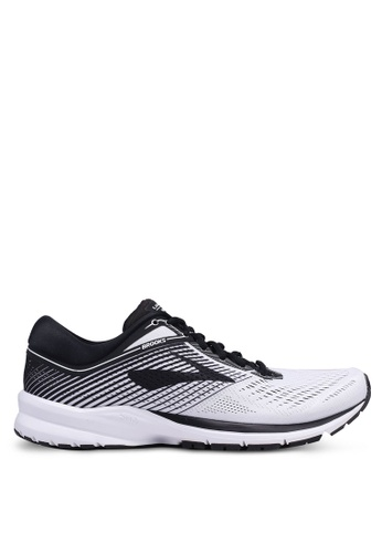 Brooks white Launch 5 Shoes CC8B5SH9A5199AGS_1