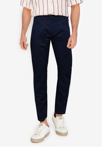 LC Waikiki navy Slim Fit Twill Trousers F13A3AA1E9D7E4GS_1
