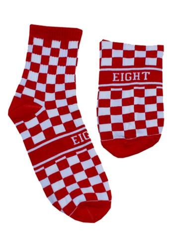 Eight Wardrobe red Red Checkerboard Sock Soc07 C4495AA70C13E7GS_1