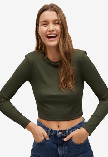 Mango green Crop T-Shirt 6DA41AA5A2B296GS_1