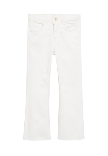 MANGO KIDS white Flared Jeans D787CKAFA4B032GS_1