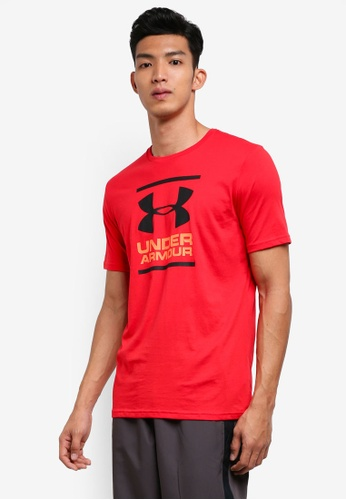 Under Armour red UA Gl Foundation Short Sleeve Tee B50A9AA653CA32GS_1