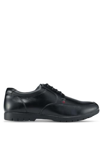 Bata black Paneled Dress Shoes 1D22ASHB5E0E14GS_1