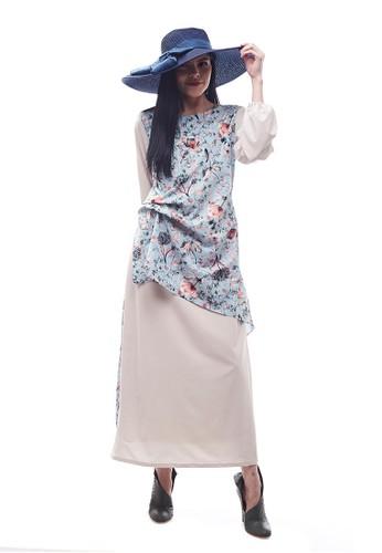 Aisaa Official white and blue Randa by Aisaa - Long Dress Two Tone 2FA5EAACE159AEGS_1