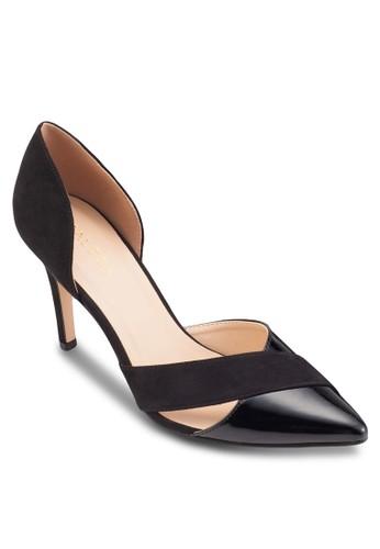 拼色鏤空帶尖頭高跟鞋, 女esprit tw鞋, 鞋