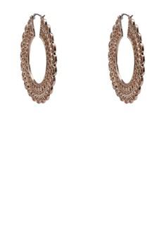 Filigree Outline Hoop Earrings