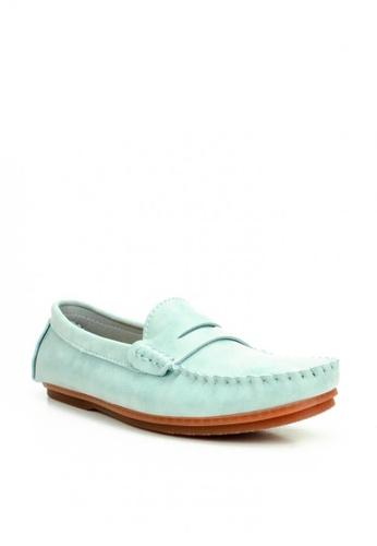 Mario D' boro Runway blue LS 95804A Blue Flat Loafers 7FEF5SH94482D1GS_1