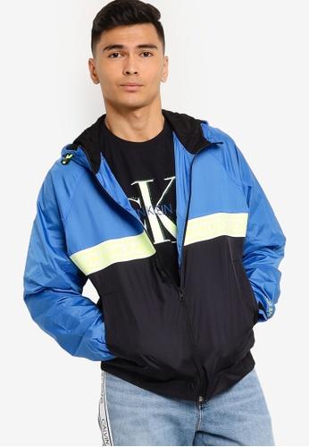 Calvin Klein blue Nylon Logo Tape Jacket - Calvin Klein Jeans 30742AACC4123DGS_1