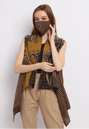 Batik Etniq Craft black Niara Vest Lurik Batik Wanita Set Masker 9D98FAA01EE02BGS_1