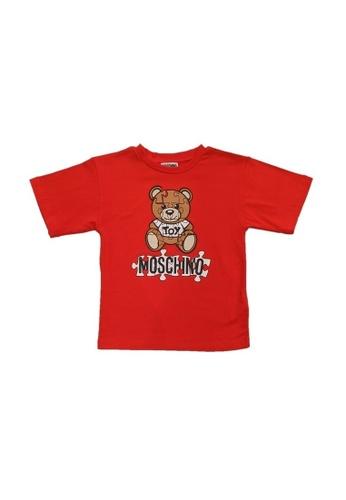 MOSCHINO BABY KID TEEN red MOSCHINO KIDS T-SHIRT 64E60KAA3ADE8DGS_1